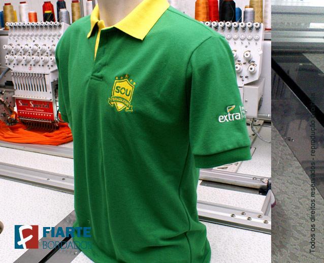 ... Camisa polo verde e amarela Kit promocional ... 30bcf0855e198
